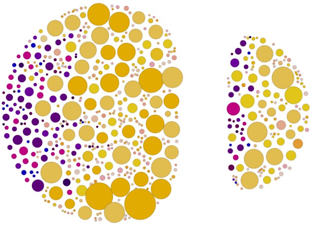 Gmail Data Visualization with d3 js